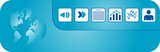 Header graphics with document icon poster
