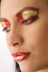 shining colored make up