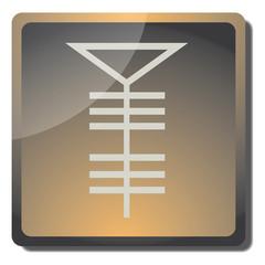 Boton talco (simbolo de alquimia)