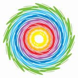 spirale arcobaleno