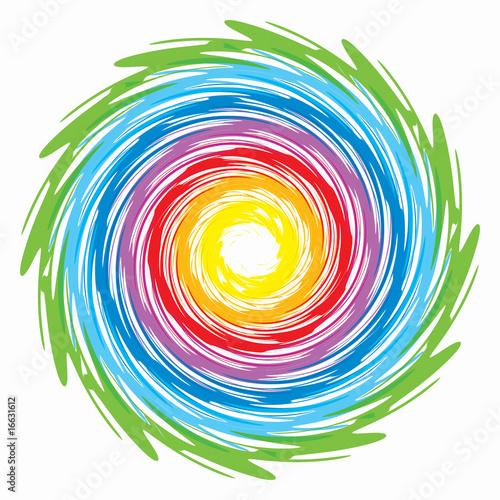 Foto op Plexiglas Spiraal spirale arcobaleno