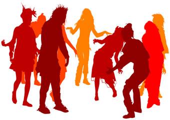 Dancing girl crowd