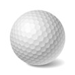 Golf ball. Vector.