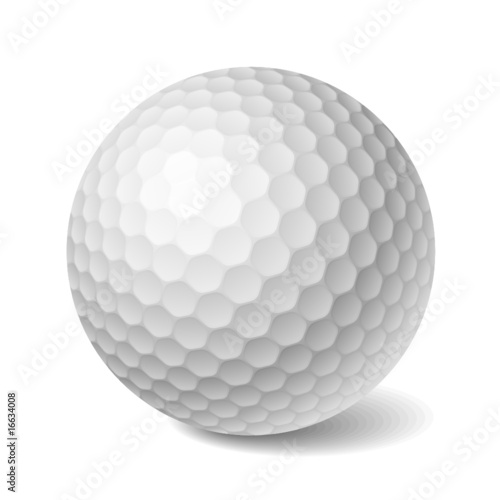 Golf ball. Vector. - 16634008