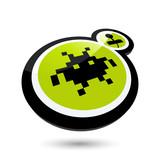 spiel joystick unterhaltung logo poster