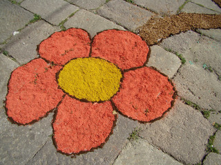 Flower Petal Art in Italy