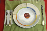 Plate with a rotten apple poster