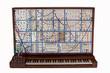 Leinwanddruck Bild - Vintage analog modular synthesizer with patchcords