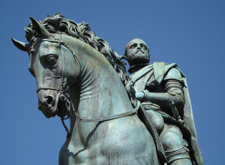 equestrian statue  by Giambologna,Florence