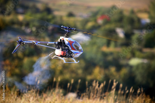 Radio controlled helicopter fly - 16645015