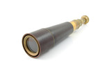 spyglass pirate Scope Monocular over white background poster