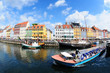Leinwanddruck Bild - Nyhavn tourist boat