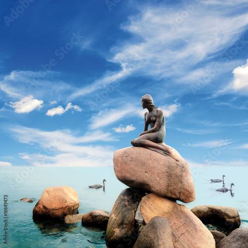 mermaid copenhagen denmark blue sky