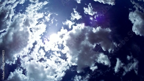 majestic blue skyscape
