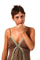 woman take a decision