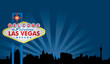 Las Vegas Sign with City Skyline - 16659039