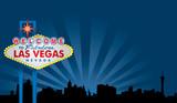Las Vegas Sign with City Skyline - 16659039