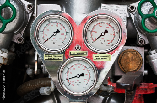 Fire engine gauges