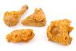 morceaux de poulet frit
