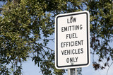 Fuel Efficient Parking Sign poster