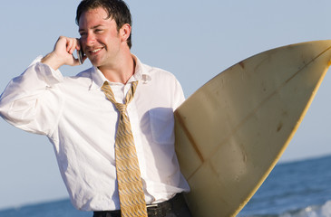 Conference Call at the Beach