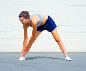Urban Mature Woman Exercising