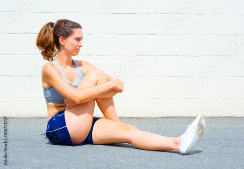 Urban Mature Woman Exercising
