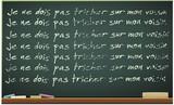 Tableau noir et sa punition en français (détouré) poster