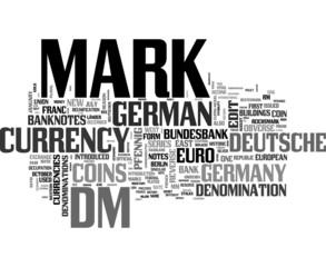 Deutsche Mark word cloud