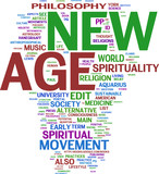 Newage tag cloud poster