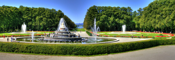 Famous landmark castle Herrenchiemsee - Bavaria / Germany