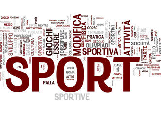 Sport word cloud - Italian