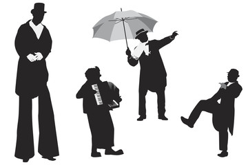 entertainer silhouettes collection