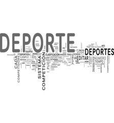 Deporte tag cloud