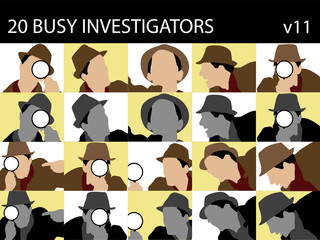 investigators with magnifying glass