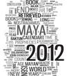 Quadro 2012 Maya calendar word cloud