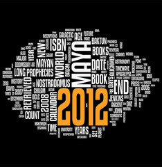 2012 Maya calendar word cloud