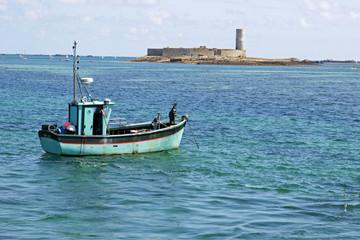 Paysage Fort cigogne bateau
