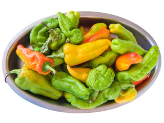 Green and yellow peppers