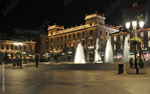 Kotzia square at night, Athens, Greece