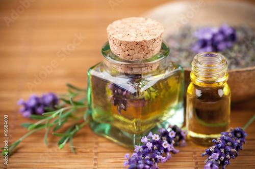 Leinwandbild Motiv Lavande, produits cosmétiques naturels