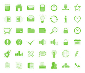 web icon set green