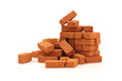 Big pile of bricks isolated
