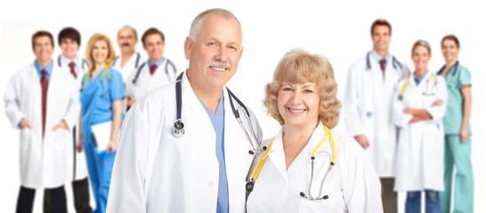 Smiling medical people