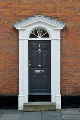 English Georgian house door