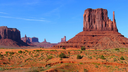 Monument valley from the valley floor