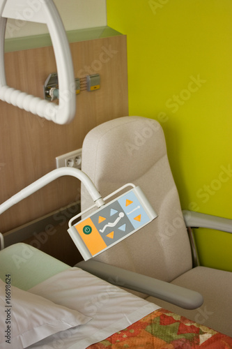 Modern hospital room with new equipment