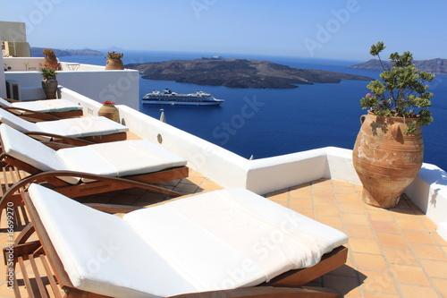 Hôtel à Santorin avec vue sur la Caldeira  - Cyclades - Grèce