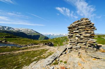 Schieferturm als Orientierungspunkt, Norwegen
