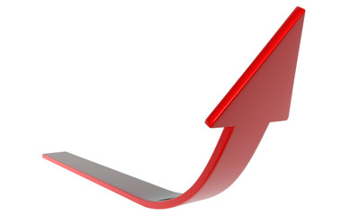 Flecha roja Frente